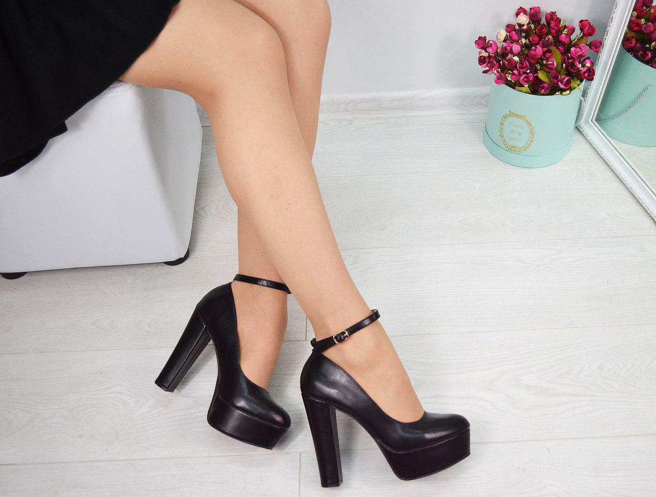 3be15b8e0b5b Женские туфли Lady ремешок на широком каблуке - Интернет-магазин Shopogolik  (женская обувь и