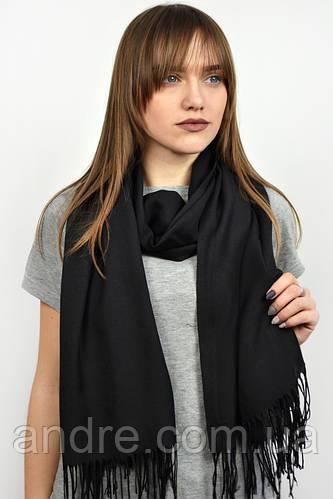 Турецкий шарф пашмина, чёрный