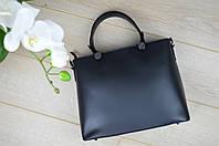 Кожаная сумка черная Leather Country