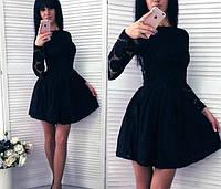 Женское пышное платье гипюр