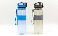 Бутылка для воды спортивная 500мл (TRITAN прозрач, PP, цвета в ассортименте), фото 1