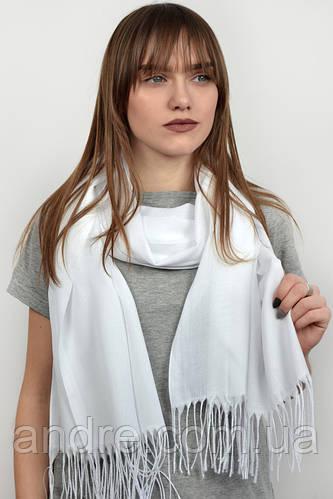Турецкий шарф пашмина, белый