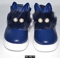Демисезонные ботинки с ушками, 23 размер (14.5 см), кожаная стелька, супинатор