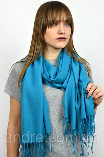 Турецкий шарф пашмина, голубой