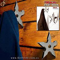 "Крючок для одежды Сюрикен - ""Ninja Hook"" - 1 шт."