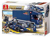 """Конструктор Sluban M38-B0357 """"Гоночный грузовик"""" 641 деталей, фото 1"""