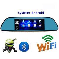 "Зеркало, навигатор, авторегистартор 12-в-1- 7"" Fugicar FC8 - WiFi, Android, 3G sim , фото 1"
