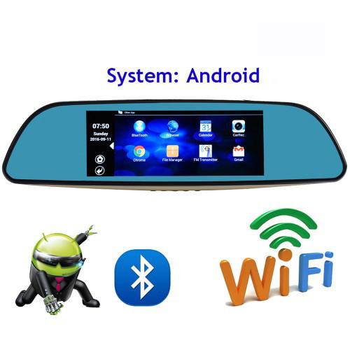 "Зеркало, навигатор, авторегистартор 12-в-1- 7"" Fugicar FC8 - WiFi, Android, 3G sim"