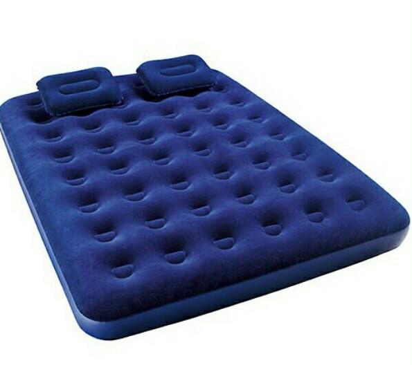 Полуторный надувной матрас Bestway 67374 (193х152х22 см.) + насос и подушка