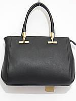 Деловая женская сумка черного цвета
