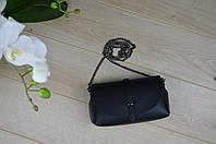 Черний кожаный клатч Virginia Conti 1429