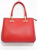 Деловая женская сумка красного цвета, фото 1
