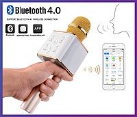 Беспроводной караоке микрофон Q7  (USB, AUX, Bluetooth)