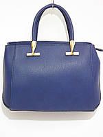 Деловая женская сумка синего цвета, фото 1