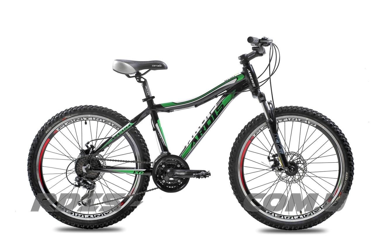 """Подростковый велосипед ARDIS NEVADA MTB 24"""" 15""""  Черный/Зеленый"""