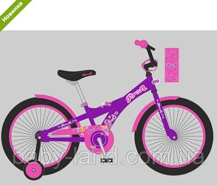 Велосипед дитячий двоколісний 14 дюймів Original girl T1463 фіолетовий