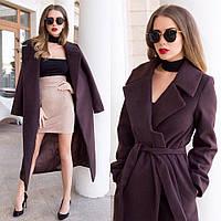Женское пальто из кашемира на натуральном подкладе.