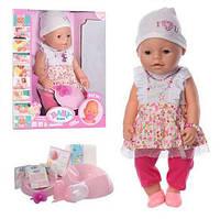 Кукла Пупс Baby Born (Беби Борн) 8020-459. 42 см, 9 функций, 9 аксессуаров