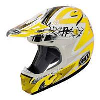 Мотошлем MT MX-1 Graphic Matt White-Yellow S