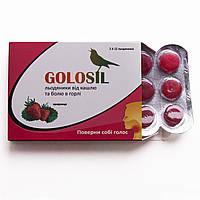 Леденцы GOLOSIL клубника (2 блистера - 24 шт.)