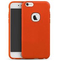 """Силиконовая накладка iPaky с имитацией кожи для Apple iPhone 6/6s (4.7"""") Оранжевый"""