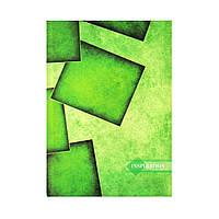 Блокнот А5 твёрдая обложка, 96 л. Зелёная абстракция