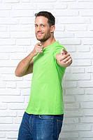 Футболка мужская, без швов, JHK, Испания, однотонная, 100% хлопок, все цвета, S - XXL