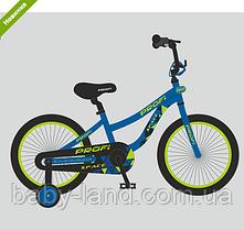 Велосипед дитячий двоколісний 14 дюймів Profi Space T14151 синій