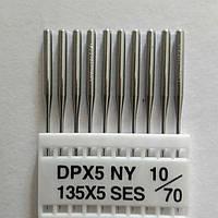 """Иглы для промышленных швейных машин """"Триумф""""DBх1 SES №70/10 (уп.10шт)"""