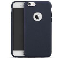 """Силиконовая накладка iPaky с имитацией кожи для Apple iPhone 6/6s (4.7"""") Синий"""