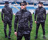 Стильный спортивный костюм для мужчин с высоким воротником стойкой