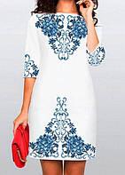 Жіночі плаття (заготовки) на білій тканині