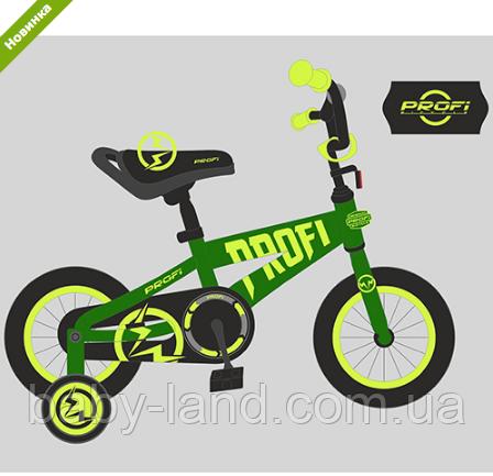 Велосипед двухколесный детский 14 дюймов Profi Flash T14173 салатовый