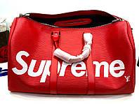 Дорожная сумка LV Supreme 48 см с плечевым ремнем