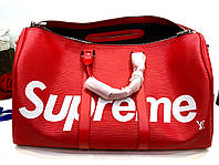 Дорожная сумка LV Supreme 48 см с плечевым ремнем (реплика), фото 1
