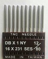 """Иглы для промышленных швейных машин """"Триумф""""DBх1 SES №80/12 (уп.10шт)"""