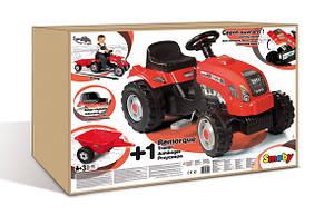 Трактор на педалях Smoby GM Bull RED, фото 3