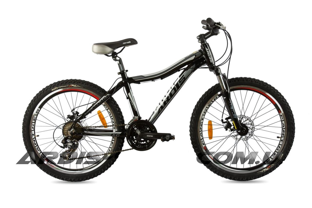 """Подростковый велосипед ARDIS NEVADA MTB 24"""" 15"""" Черный/Серый"""