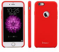 """Силиконовая накладка iPaky с имитацией кожи для Apple iPhone 6/6s (4.7"""") Красный"""