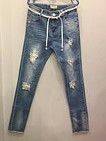 Модные подростковые джинсы для девочки 8(140),12(152), фото 1