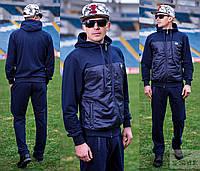 Модный спортивный костюм для мужчин с вставками плащевки