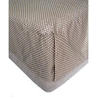 Простынь Коричневый горох на резинке 160х200+20см