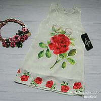 Нарядное платье с красной розой D&G на девочку