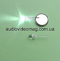 Светодиод 3V 5 мм, прозрачный, цвет белый