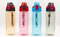 Бутылка для воды спортивная 600мл+капсула для льда  (TRITAN прозрач, PP, цвета в ассортименте)
