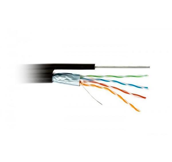 Кабель FTP, CCA, для внешней прокладки с проволокой, 4x2x0,50 мм, Rita