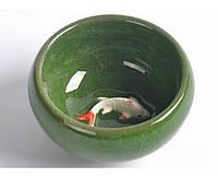 """Пиала """"Колотый лед"""" с рыбками ( 7 цветов в ассортименте ), фото 1"""