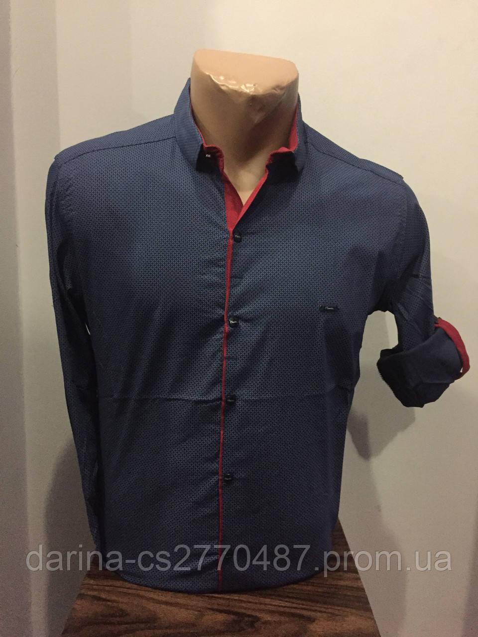 Рубашка мужская на кнопках S,XL