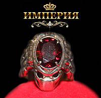 Перстень мужской серебряный 925 Хищник