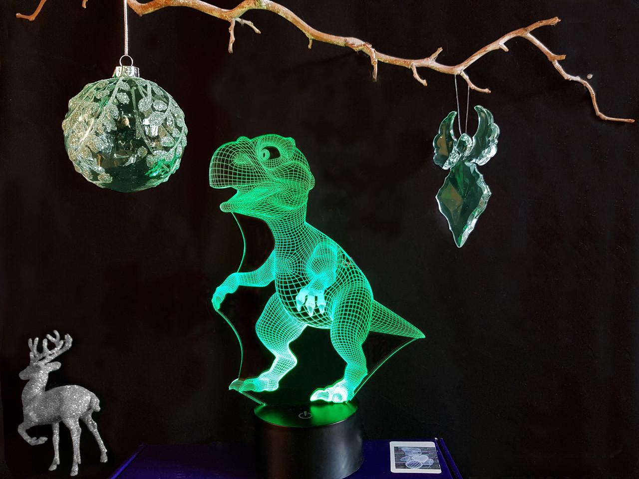 """Детский ночник  """"Динозаврик"""" 3DTOYSLAMP, фото 1"""